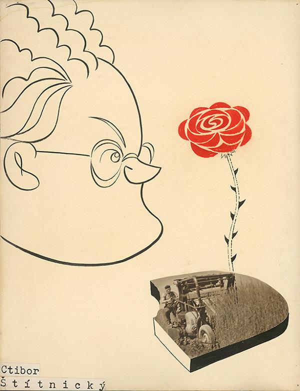 Alexander Richter - Karikatúra Ctibora Štítnického