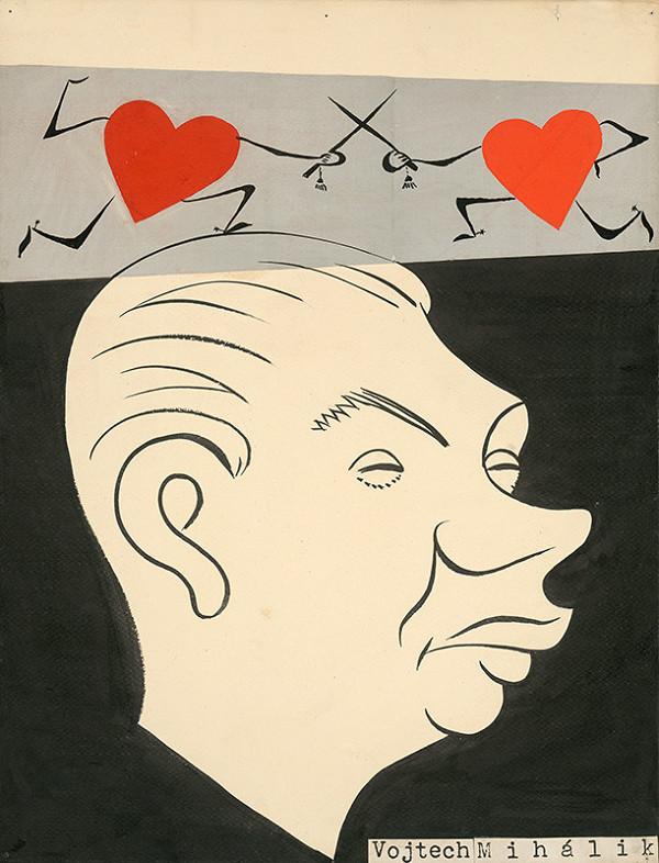 Alexander Richter – Karikatúra Vojtecha Mihálika