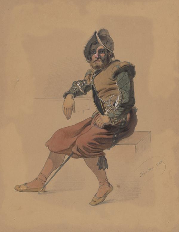 Friedrich Carl von Scheidlin – Sediaci muž vo vojenskom šate. Štúdia J.Mníchova