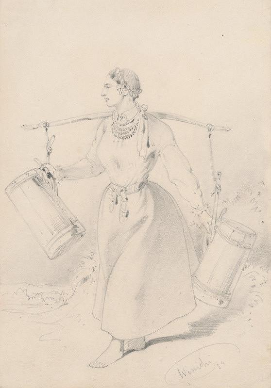 Friedrich Carl von Scheidlin – Žena idúca po vodu
