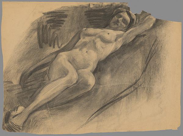 Emil Alexay-Olexák - Štúdia ležiaceho ženského aktu