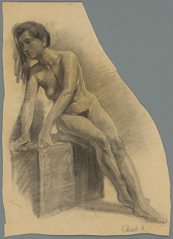Emil Alexay-Olexák – Štúdia sediacej ženy