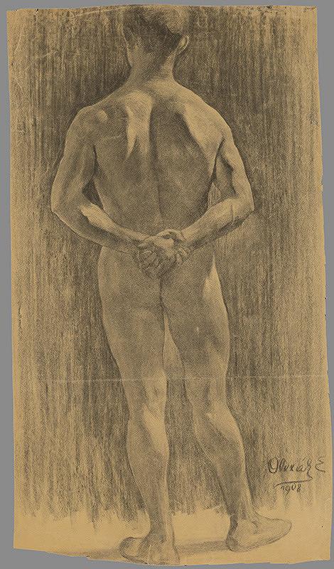 Emil Alexay-Olexák - Štúdia mužského aktu