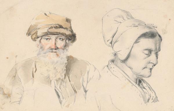 Friedrich Carl von Scheidlin – Štúdia starca a stareny