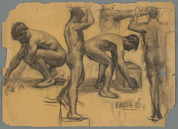 Emil Alexay-Olexák - Pohybová štúdia mužských aktov
