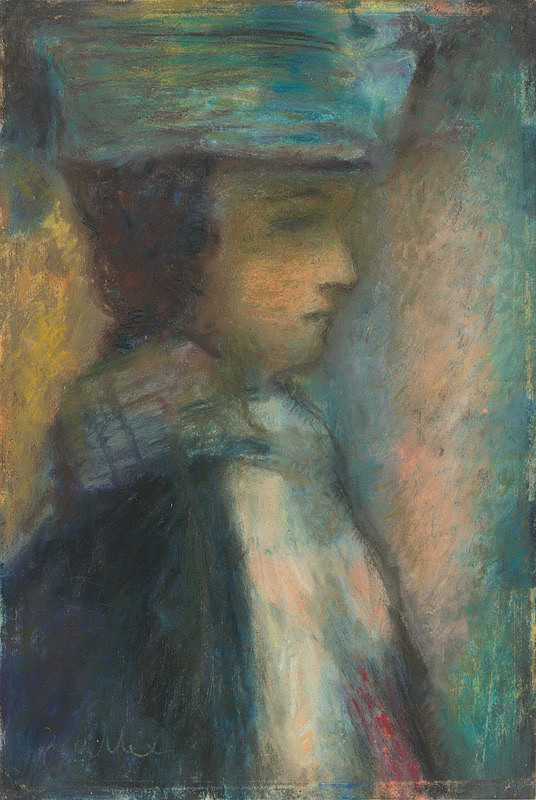 Janko Alexy – Dievčatko v zelenom klobúku