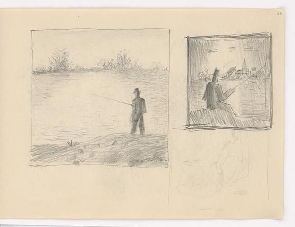 Mikuláš Galanda - Skicár s rôznymi štúdijnými kresbami
