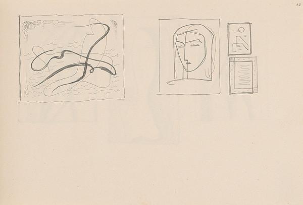Mikuláš Galanda – Skicár s rôznymi štúdijnými kresbami