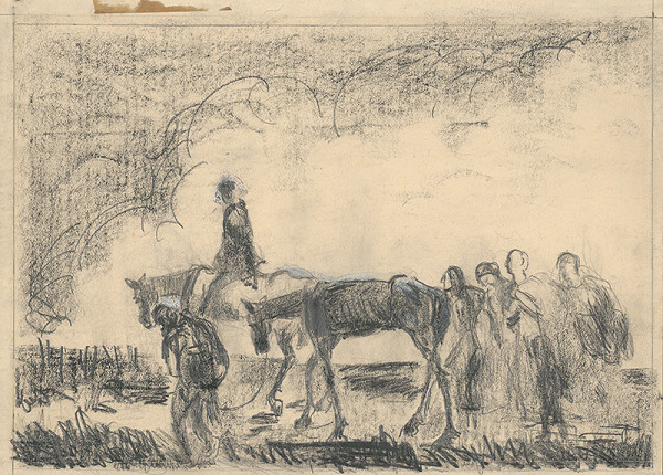Cyprián Majerník – Štúdia k litografii Utečenci