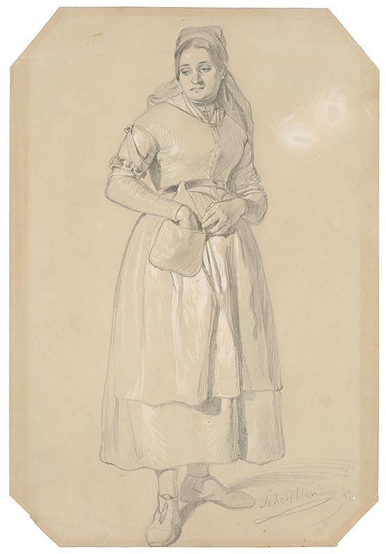 Friedrich Carl von Scheidlin – Stojaca žena