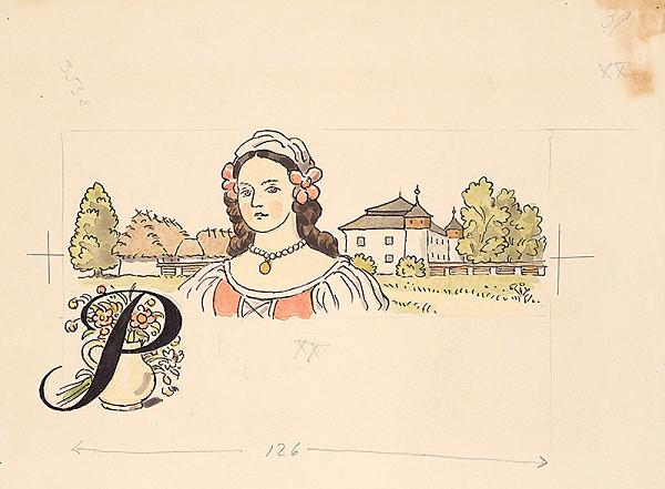 Jan Hála - Dievča v kroji