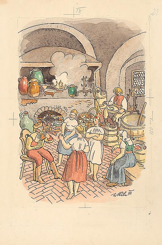Jan Hála - V kuchyni
