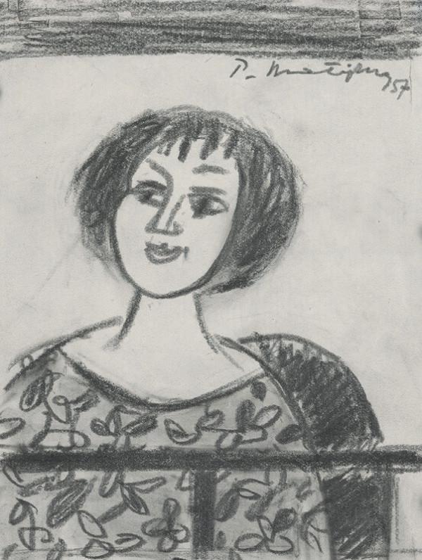 Peter Matejka - Štúdia sediacej ženy
