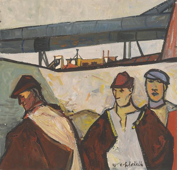 Vincent Hložník – Traja robotníci