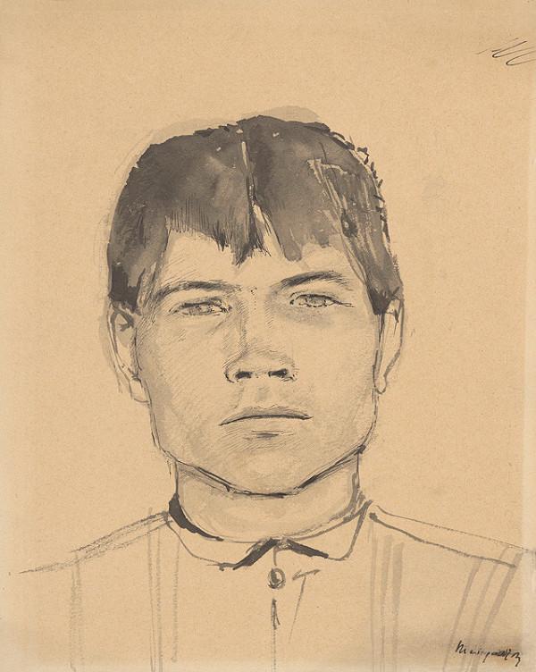 Ladislav Mednyánszky - Štúdia hlavy mládenca