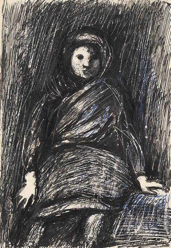 Ján Mudroch - Sediace dievčatko