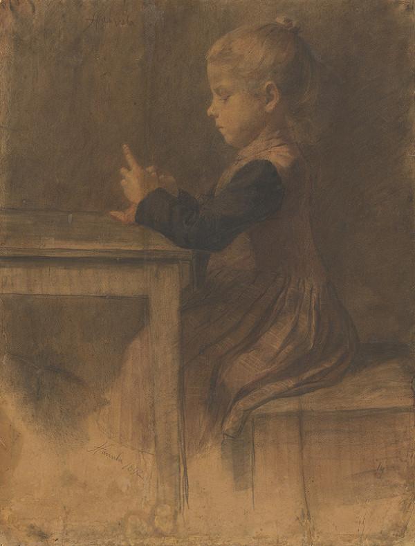 Jozef Hanula – Dievčatko pletie