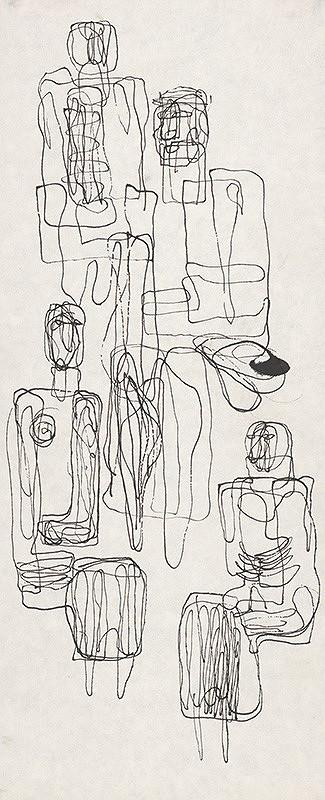 Milan Paštéka – Sediace figúry