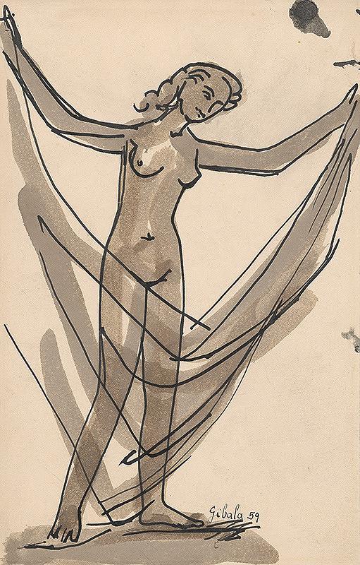 František Gibala – Žena s drapériou