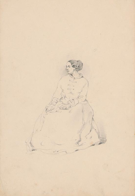 Friedrich Carl von Scheidlin - Štúdia sediacej ženy
