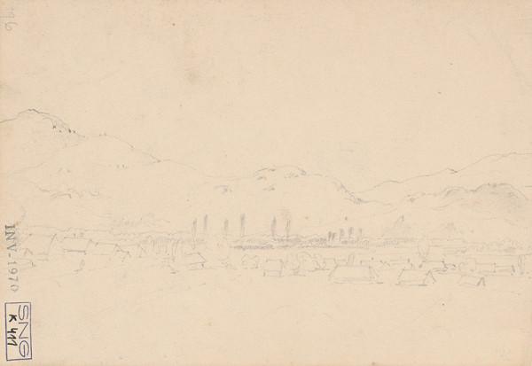 Friedrich Carl von Scheidlin – Horská krajina s domkami