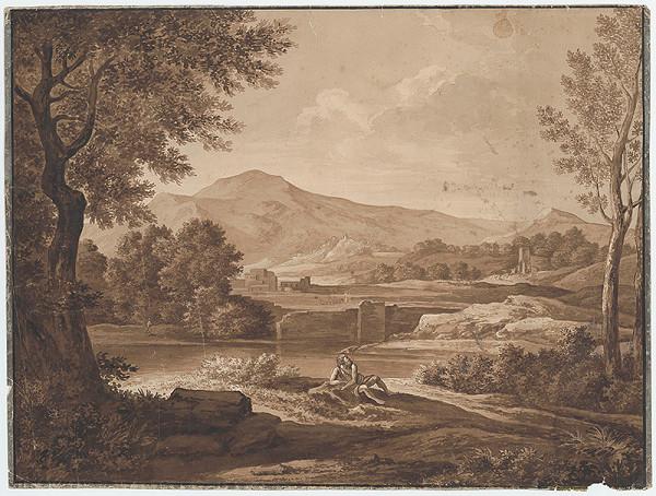 Stredoeurópsky maliar okolo 1801 – Krajina s ruinami a figurálnou štafážou