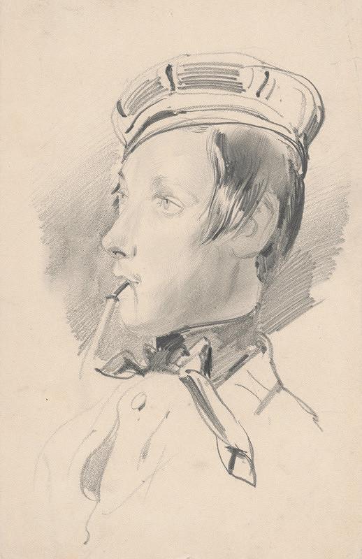 Friedrich Carl von Scheidlin – Hlava chlapca s fajkou