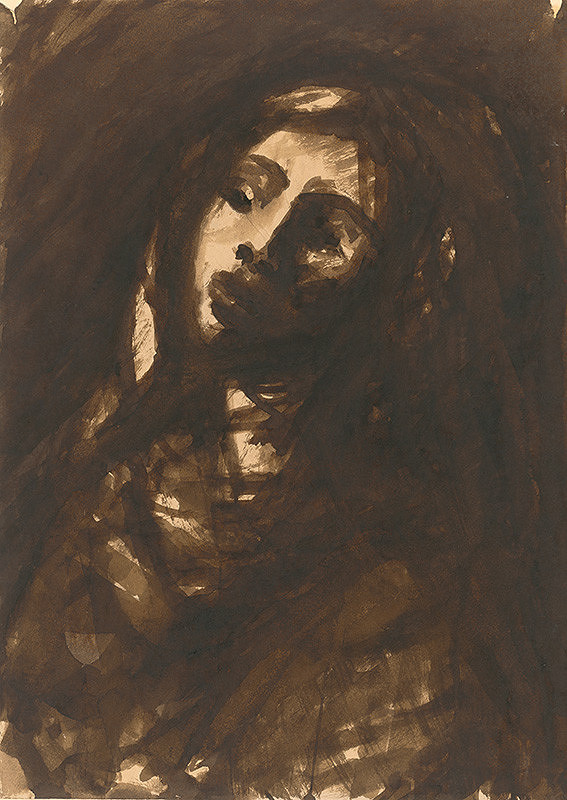 Ján Mudroch – Hlava dievčatka v klobúku