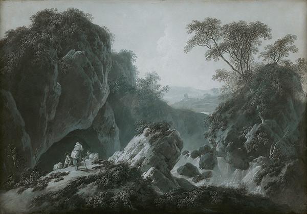 Jean Baptiste Pillement – Romantická krajina s pastiermi kôz