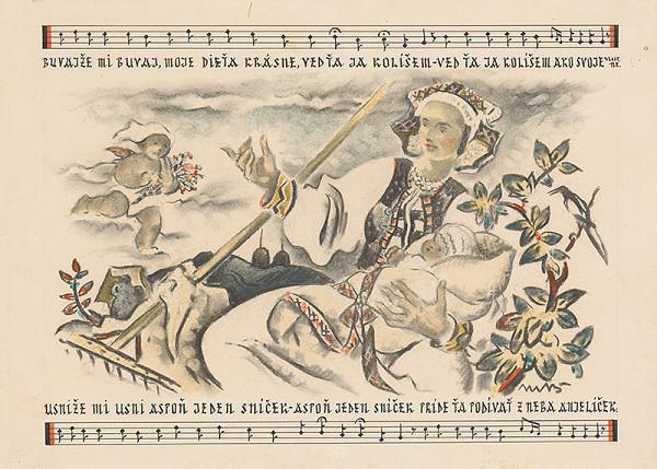 Martin Benka - Búvajže mi, búvaj, moje dieťa... Ilustr.k slov.uspávanke - III.