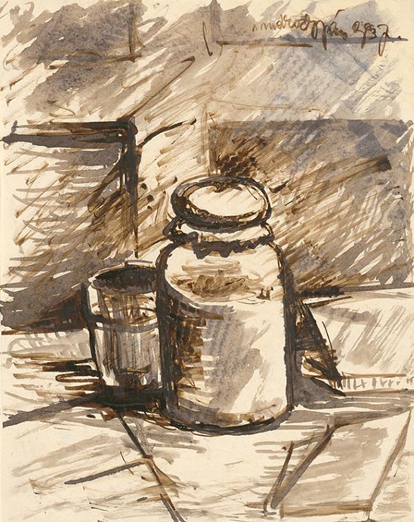 Ján Mudroch - Zátišie s pohárom so zaváraninou