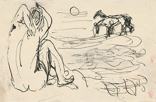 Ján Mudroch - Dievča a kone