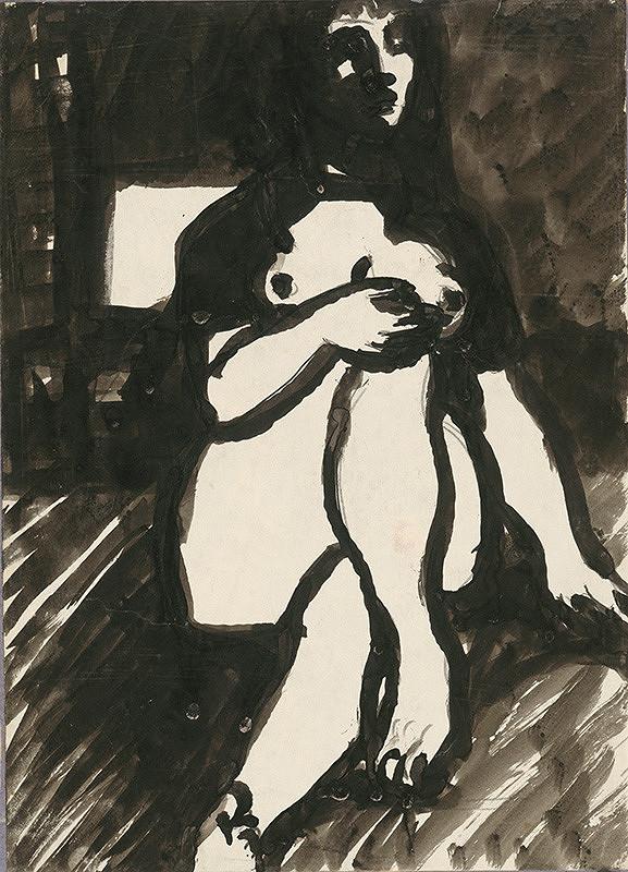 Ján Mudroch - Sediaci ženský akt