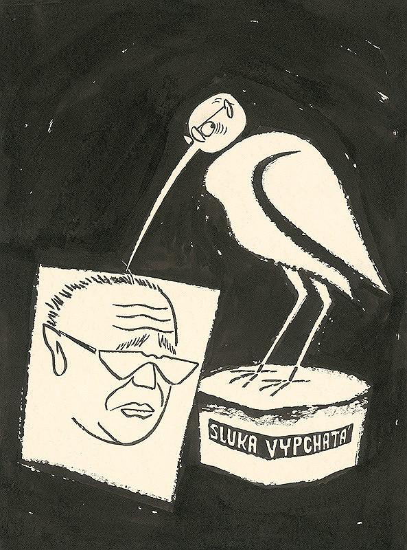 Alexander Richter - Karikatúra maliara Ladislava Gudernu
