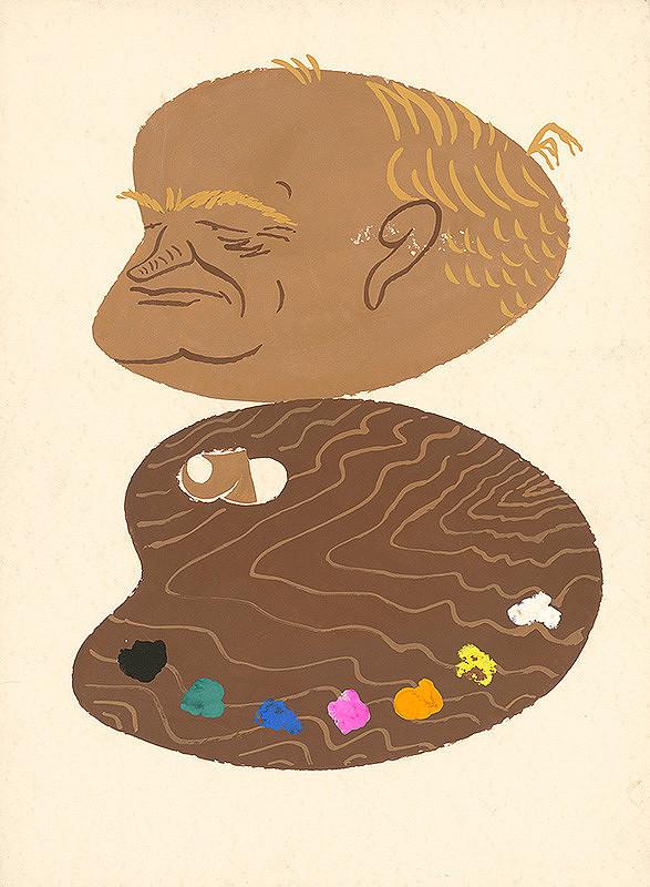 Alexander Richter - Karikatúra maliara Janka Alexyho