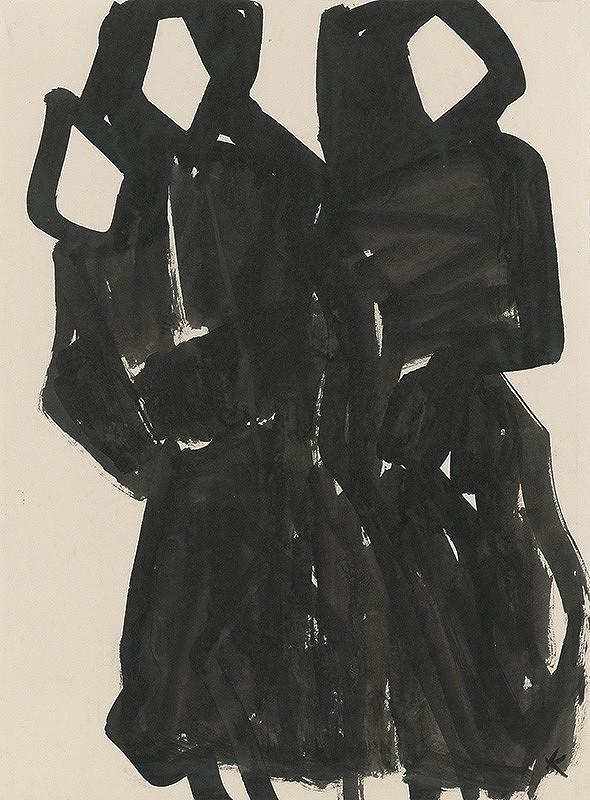 Jozef Kostka - Dve ženy s dieťaťom