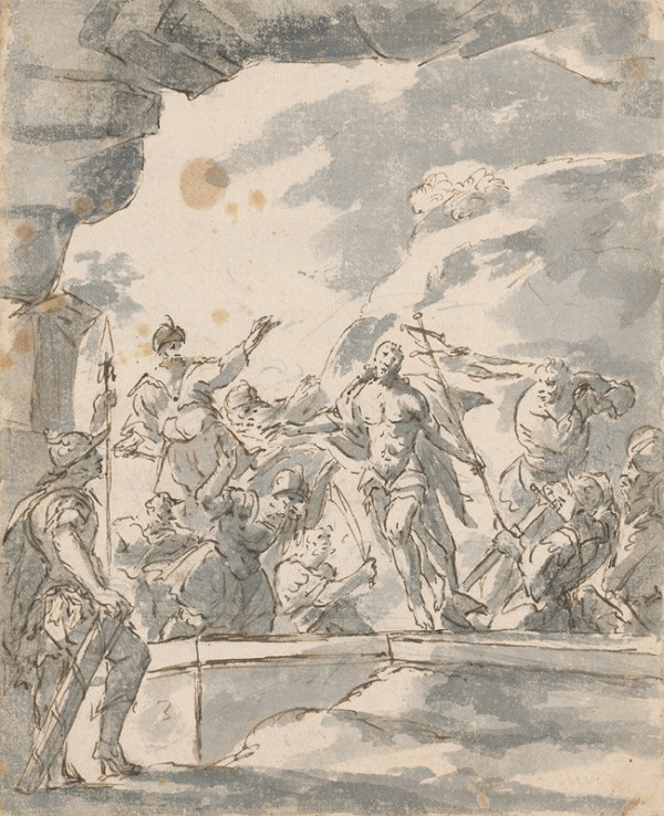 Stredoeurópsky maliar z konca 17. storočia – Zmŕtvychvstanie Krista