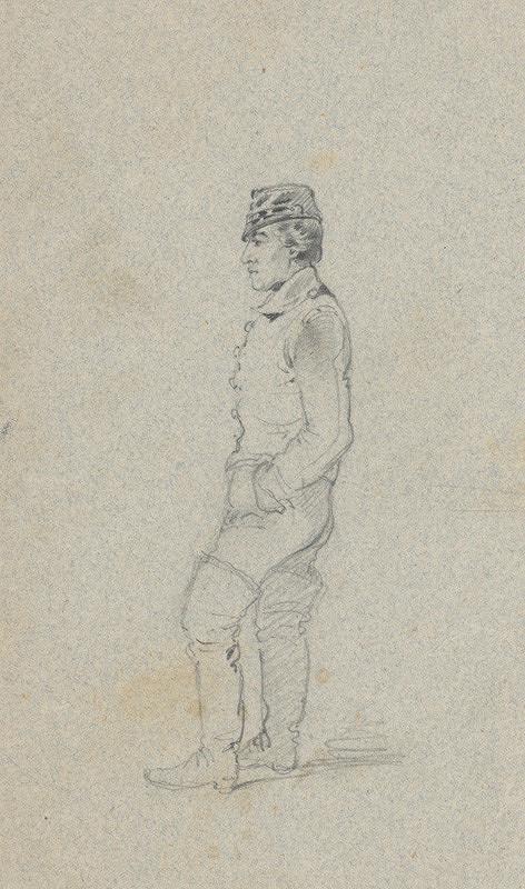 Friedrich Carl von Scheidlin – Štúdia muža z profilu