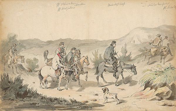Friedrich Carl von Scheidlin – Výlet na koňoch