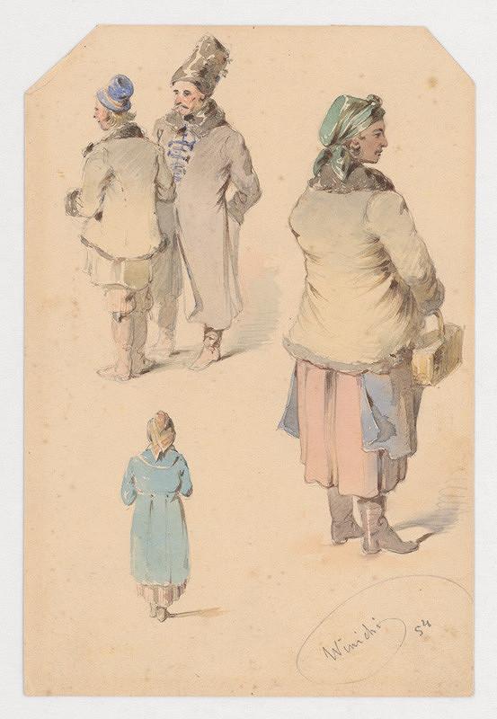 Friedrich Carl von Scheidlin – Kostýmové štúdie