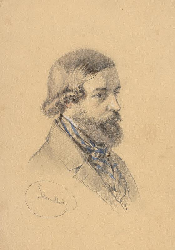 Friedrich Carl von Scheidlin – Štúdia bradatého muža