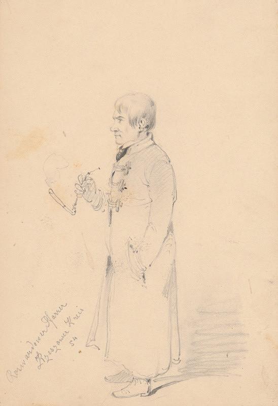 Friedrich Carl von Scheidlin – Muž s fajkou