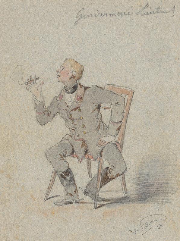 Friedrich Carl von Scheidlin - Sediaci žandársky poručík