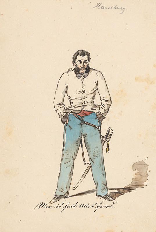 Friedrich Carl von Scheidlin - Muž s rukami vo vreckách