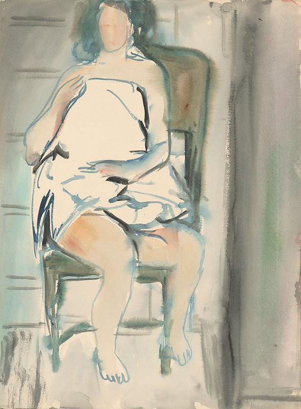 Jozef Šturdík - Sediace dievča na stoličke