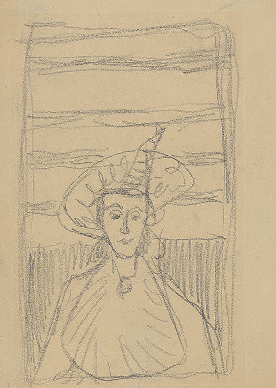 Eugen Nevan – Staršia žena v klobúku