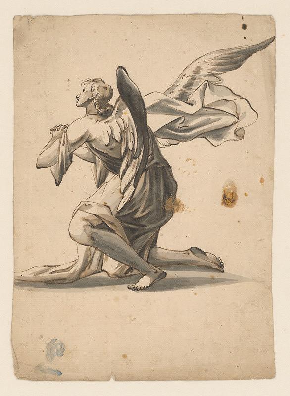 Stredoeurópsky maliar z 18. storočia – Štúdia kľačiaceho anjela