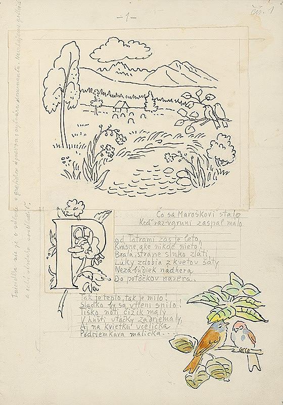 Jan Hála – III.Štúdia k ilustráciám