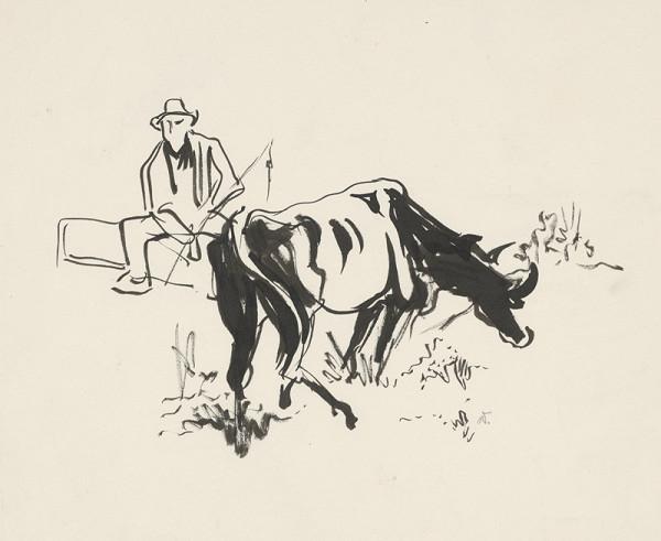 Jaroslav Vodrážka – Pastier s kravou