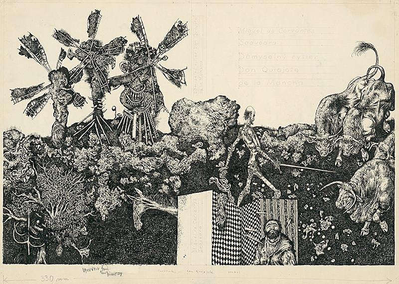 Albín Brunovský: Don Quijote 4., 1964, Slovenská národná galéria
